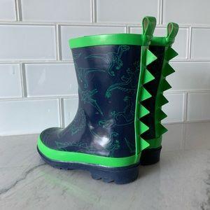 Gap boys dinosaur rain boot, size 9